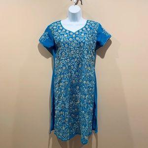 Blue Indian Sari Dress